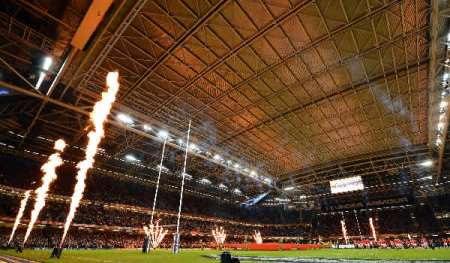Millennium Stadium with the roof closed