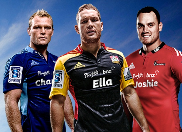 New Zealand Super Rugby Franchise Jerseys with child names