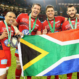 Bryan Habana, Bakkies Botha, Juan Smith & Danie Rossouw at Toulon