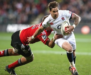 Danny Cipriani in action for England against the Crusaders