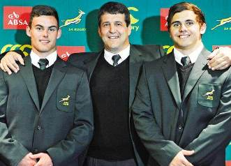 Jesse & Dan Kriel with Dawie Theron
