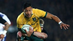 Wanted man ... Israel Folau playing against the All Blacks.
