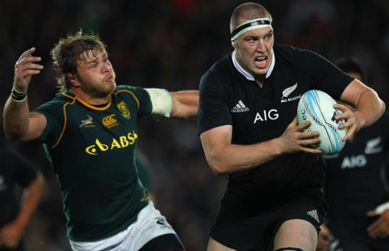 Duane Vermeulen and Brodie Retallick - Brodie beat Duane and the other nominees as Player Of The Year 2014, after a monsterous season by the big brute of a lock.