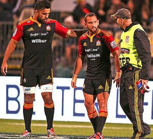 Aaron Cruden, injured on the weekend and out for the season