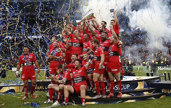 Toulon celebrate winning the 2015 European Rugby Champions Cup