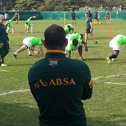 Fourie du Preez sits out at training