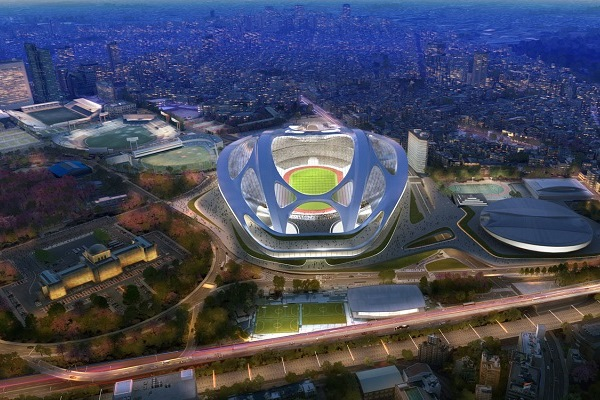 Image of the New National Stadium in Tokyo, which will now not be built.