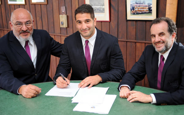 From Left to Right: UAR President Carlos Araujo, Juan Martin Leguizamon & UAR Secretary Fernando Rizzi