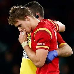 Liam Williams injured against Australia