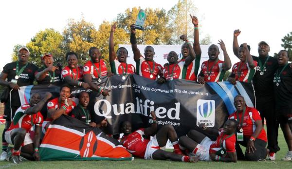 Kenya celebrate their Qualification for the Olympics in Rio in 2016