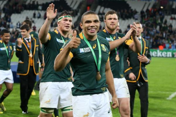 Springboks celebrate 3rd Place at Rugby World Cup 2015